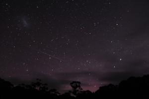 Aurora and bonus meteor